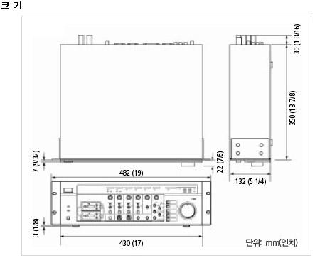 SRP-X500P 크기