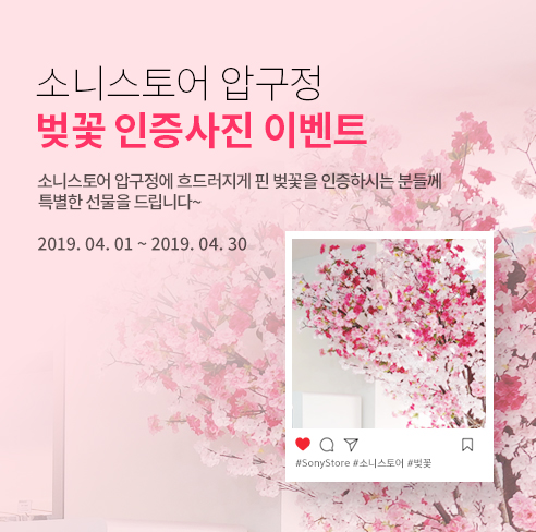 소니스토어 압구정 벚꽃 인증사진 이벤트