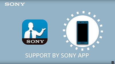 Support by Sony App 동영상 썸네일